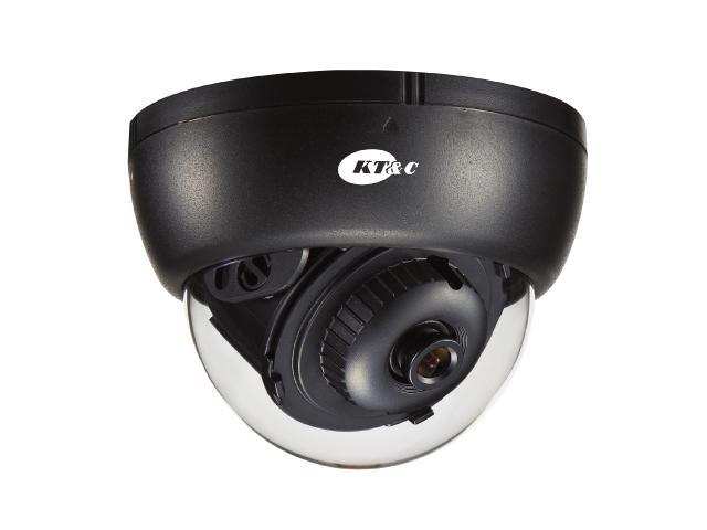 KT&C Indoor Dome Camera, 700 TVL SONY 960H EX-View II, 3.6mm, 3-Axis, Day/Night option available