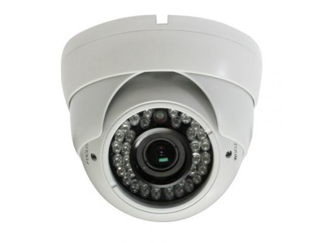 HD-SDI Outdoor Turret Dome IR camera: 2 Megapixel Full HD 1080p image, 2.8-12mm OSD Dual Video 36 IR ( White Color )