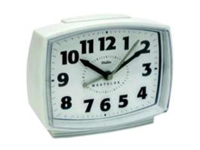 Westclox 22192 Quartz Analog Alarm Clock, White
