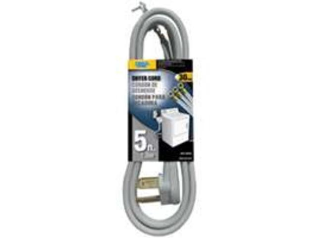 Power Zone ORD100305 Dryer Cord 10/3 Srdt Gray 5-Foot Indoor - 3 Conductor - Eac