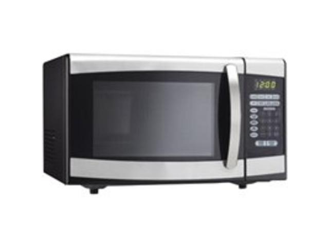 Danby Products DMW099BLSDD 0.9-Cubic-Foot Counter Top Microwave, Black/Stainless