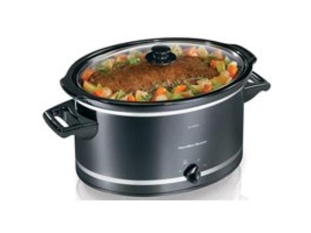 Hamilton Beach 33182 8-Quart Slow Cooker Black/ Silver Each