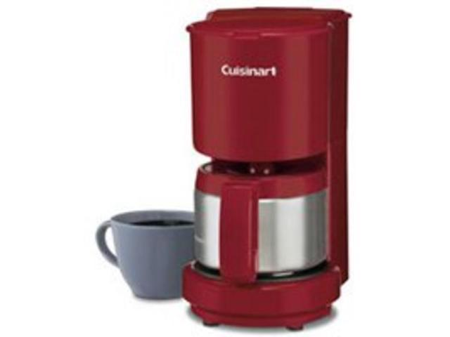 Coffeemaker Red 4 Cup CUISINART/WARING Coffeemakers DCC450R 086279007124