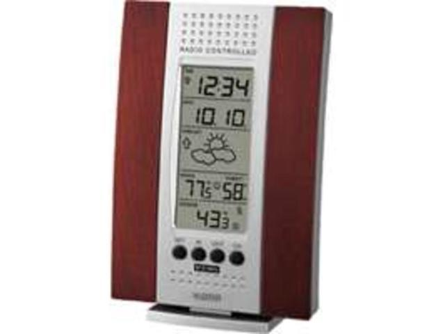 Atomic Clock with Wireless Weather Forecaster - by La Crosse Technology