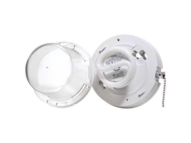 Closet Light W/Pull Chain 9862-PCH LEVITON MFG Compact Fluorescent Bulbs