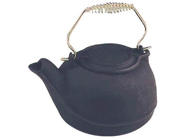 Black 3Qt Stove Tea Kettle with Spring Handle US STOVE CO TK-02 Black Cast Iron