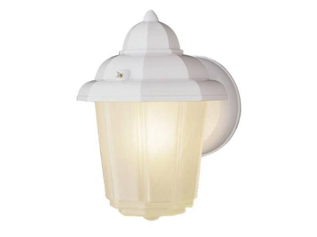 Wall Lantern White National Brand Alternative Outdoor Lighting 617067