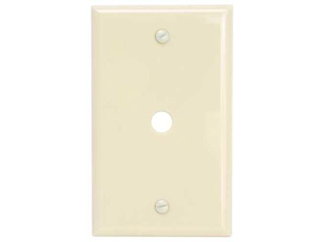 Plastic Cable/Telephone Wall Plate Ivory National Brand Alternative 602504