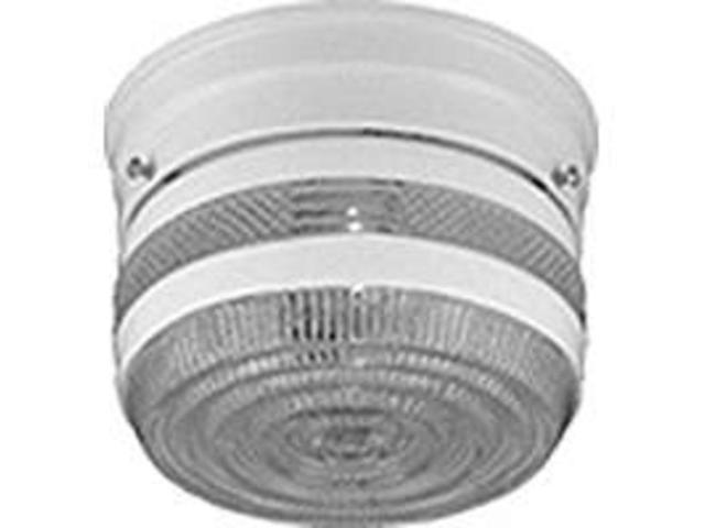Boston Harbor F13WH01-6859CL-3 Single Light Flush Mount Ceiling Fixture, White