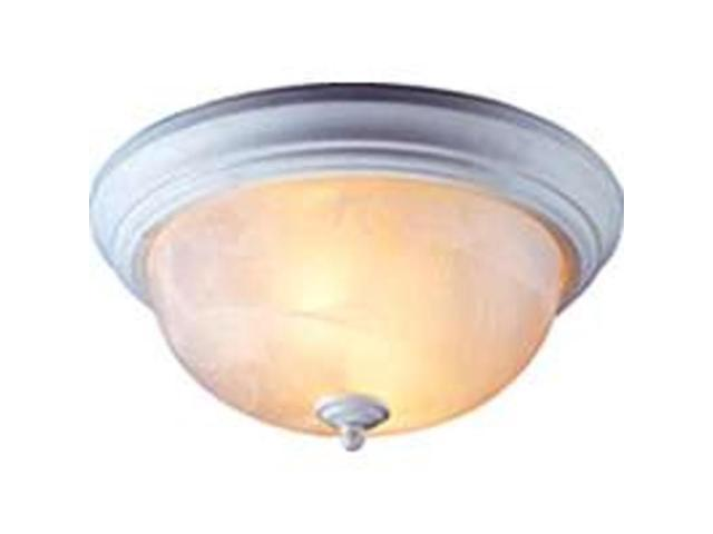 Boston Harbor BRT-FL226M-33L Alabaster Flush Mount Ceiling Light Fixture, White