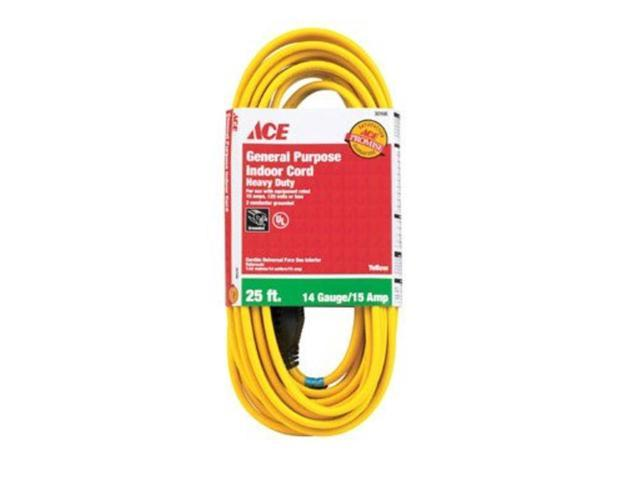 Household Indoor Extension Cord ACE Extension Cords 1FY-003-025FYL 082901301660