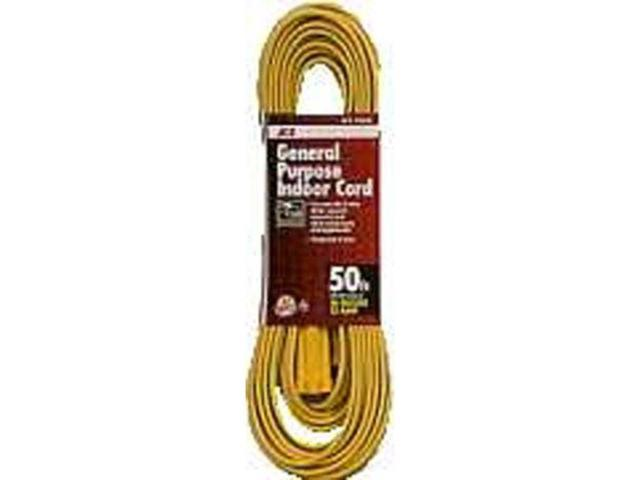 Household Indoor Extension Cord ACE Extension Cords 1FX-001-050FYL 082901332404