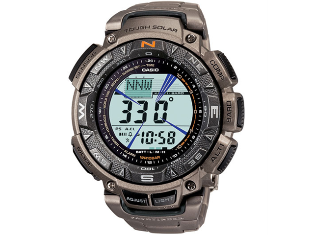 Pathfinder Men's Grey Dial Triple Sensor Compass Digital Watch #PAG240T-7