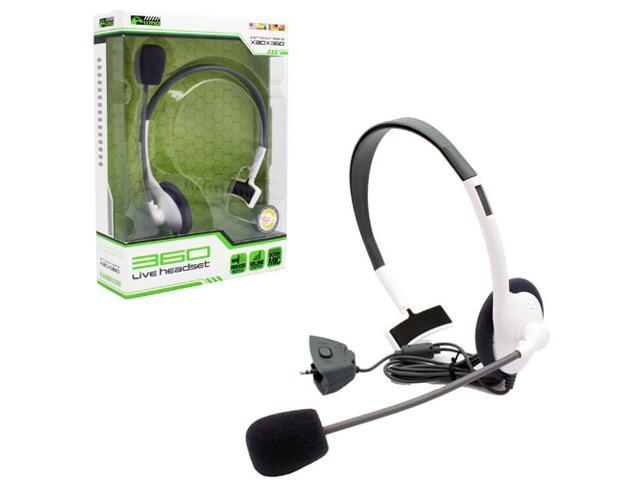 KMD (KOMODO) Live Pro Gamer Headset with Mic White (Small) for XBOX 360
