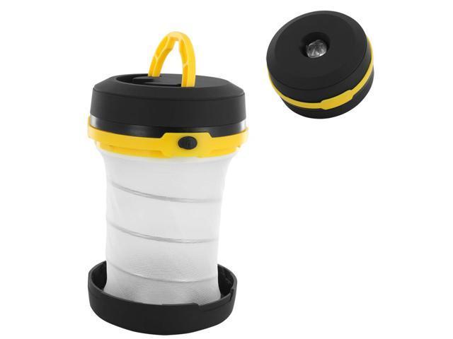 2 Mode Ultralight Portable Camping Outdoor Pop-up LED Flashlight Lantern, Black