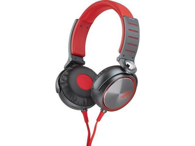Sony MDRX05/RB Over-the-Ear Headphones | Red/Black