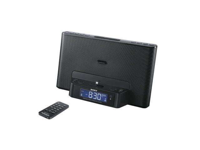 Sony ICF-CS15IPN Clock Radio for Apple iPhone iPod Dock Lightning Connector - Black