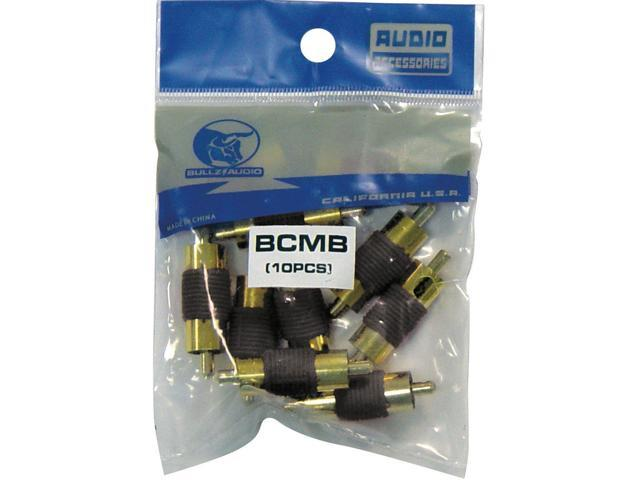 NEW PACK XSCORPION BCMB MALE BLACK RCA COUPLERS 10 PER PACK