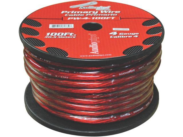 NEW NIPPON PW4100RD RED 4 GA 100' SPOOL 4 GAUGE OXYGEN FREE POWER CABLE