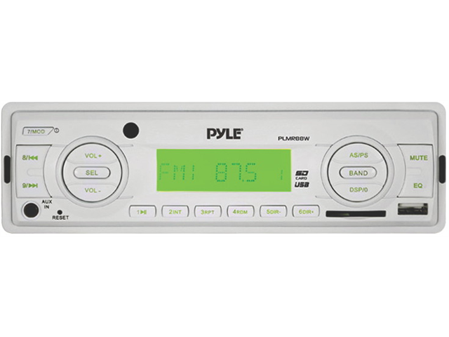 New Pyle Plmr88w Marine Receiver Am Fm Mp3 With Usb Input Sd & Wireless Remote