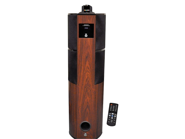 NEW PYLE PHST92ICW CHERRY FINISH HOME THEATER TOWER IPOD IPHONE DOCKING STATION