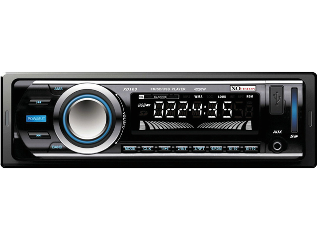 NEW XO VISION XD103 AM / FM STEREO RECEIVER WITH USB AND SD