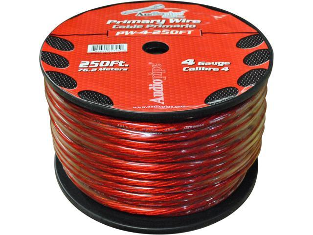 New Nippon Pw4rd Red 4 Ga 250' Spool 4 Gauge Oxygen Free Power Cable