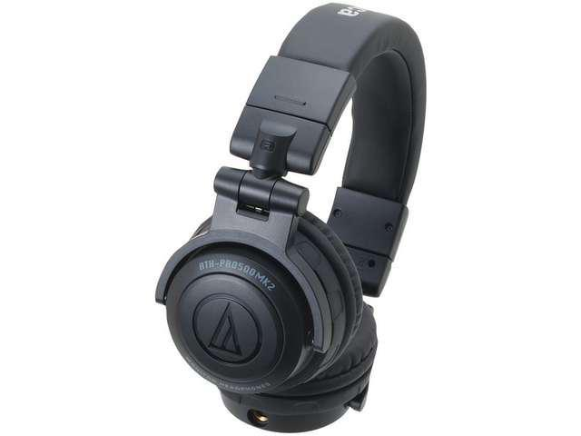 AUDIO TECHNICA ATH-PRO500MK2BK Rugged Design DJ Headphone (Black)