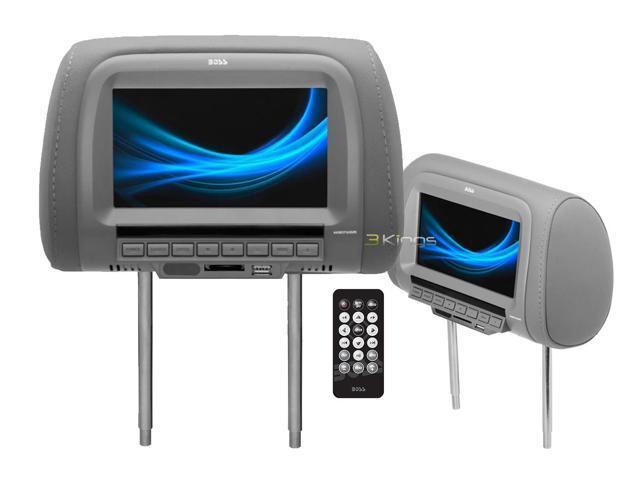 Boss Hir7ugr Universal Headrest Car Video Player Car Headrest Monitor Gray