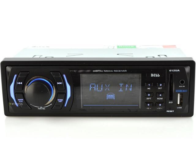 New Boss 612Ua Fixed Face Mp3/Wma And Usb/Sd/Aux Mechless Receiver