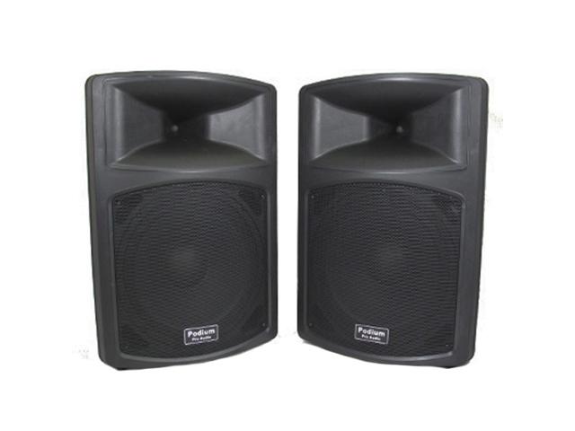 Podium Pro PP1503A 1 Pair 1800 Watts Band DJ PA Karaoke Active Powered 15