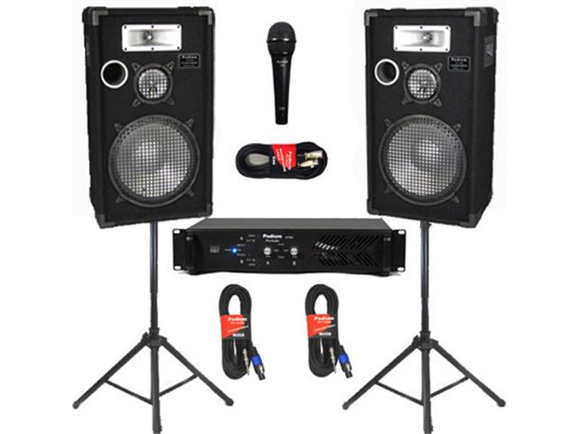 Podium Pro Audio Speakers Podium Pro Deluxe Speakers 12 Quot