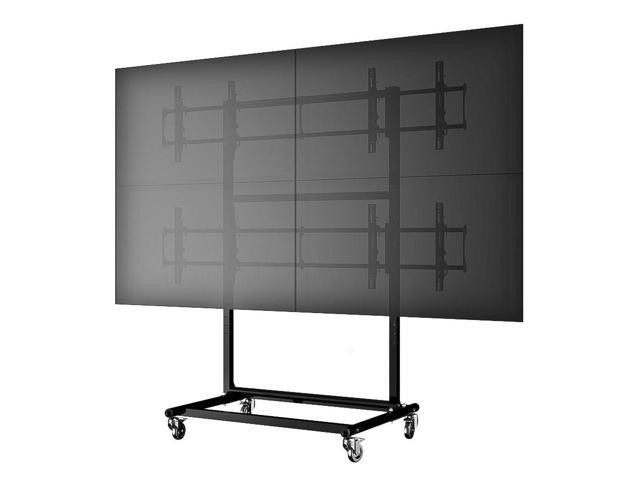 Cotytech Micro-Adjustable Mobile Video Wall Cart/Stand For 46 inch - 60 inch
