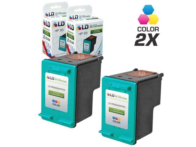 LD ? Remanufactured Replacement Ink Cartridges for Hewlett Packard C9361WN (HP 93) Tri-Color (2 Pack)