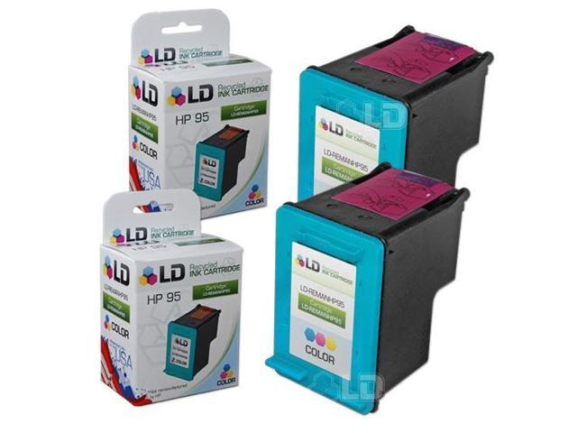LD ? Remanufactured Replacement Ink Cartridges for Hewlett Packard C8766WN (HP 95) Tri-Color (2 Pack)