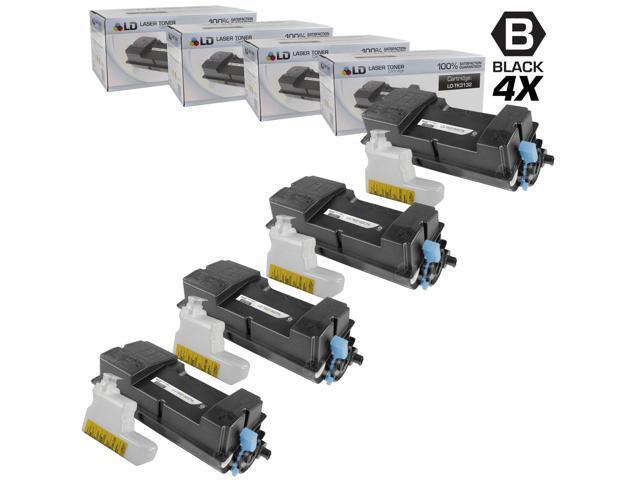LD © Set of 4 Compatible Kyocera-Mita Black TK-3132 / 1T02LV0US0 Laser Toner Cartridges for use in FS-4300DN Printers