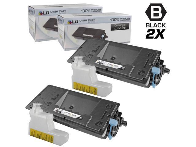 LD © Set of 2 Compatible Kyocera-Mita Black TK-3102 / 1T02MS0US0 Laser Toner Cartridges for use in FS-2100DN Printers