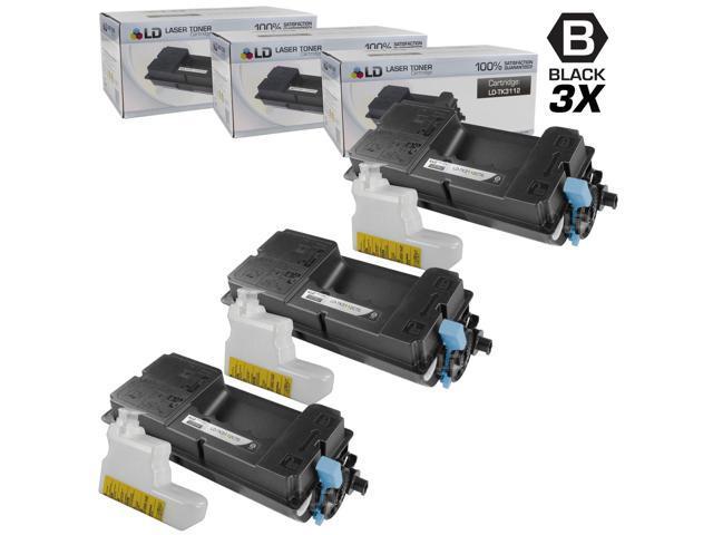 LD © Set of 3 Compatible Kyocera-Mita Black TK-3112 / 1T02MT0US0 Laser Toner Cartridges for use in FS-4100DN Printers
