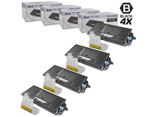 LD © Set of 4 Compatible Kyocera-Mita Black TK-3102 / 1T02MS0US0 Laser Toner Cartridges for use in FS-2100DN Printers