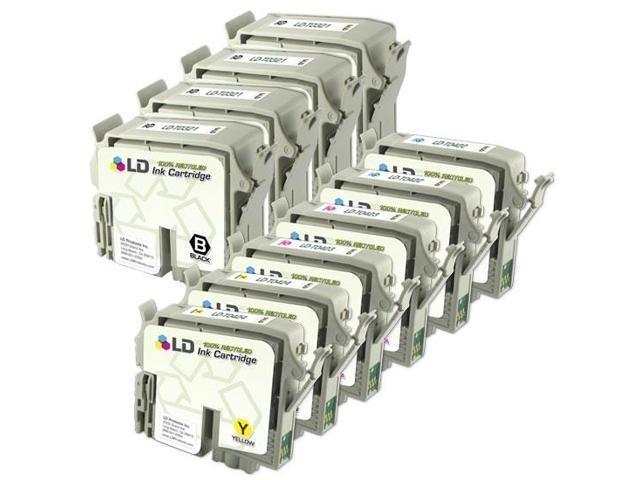 LD © Epson C82, CX5200, CX5400 Remanufactured Set of 10 Ink Cartridges: 4 Black + 2 Cyan, Magenta, Yellow