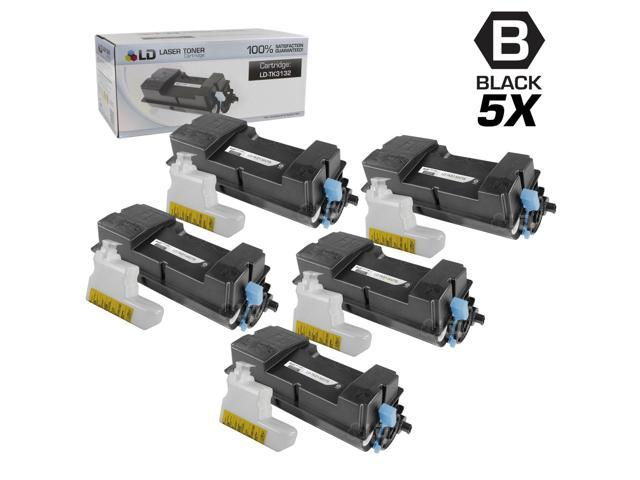 LD © Set of 5 Compatible Kyocera-Mita Black TK-3132 / 1T02LV0US0 Laser Toner Cartridges for use in FS-4300DN Printers