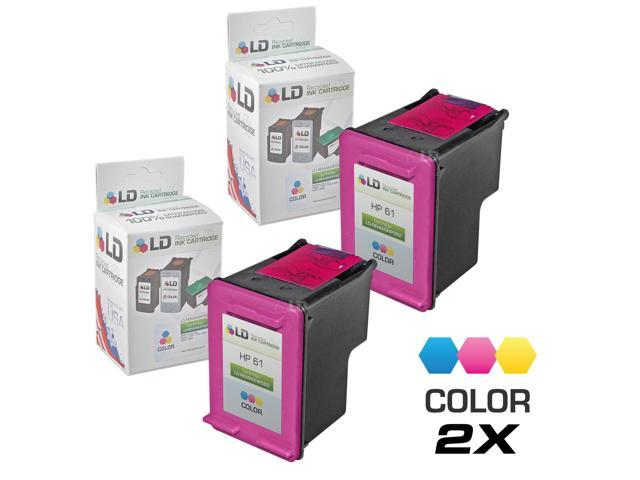 LD ? Remanufactured Replacement Ink Cartridges for Hewlett Packard CH562WN (HP 61) Tri-Color (2 Pack)
