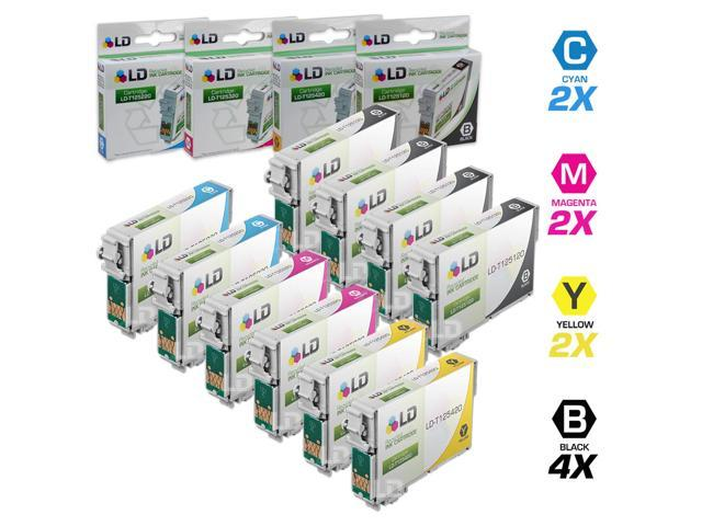 LD ? Remanufactured Replacement for Epson T125 10-Set Ink Cartridges: 4 Black T125120 & 2 each of Cyan T125220 / Magenta T125320 / Yellow T125420 ...