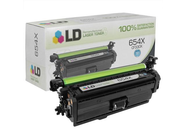 LD © Remanufactured Replacement for Hewlett Packard CF330X / HP 654X High Yield Black Laser Toner Cartridge for use in HP Color LaserJet ...