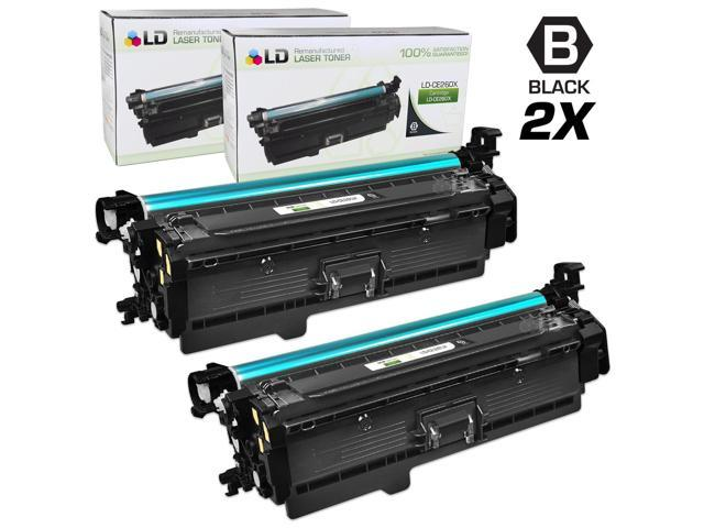LD © Remanufactured Replacements for Hewlett Packard CE260X (HP 649X) 2 Pack High Yield Black Laser Toner Cartridges for us in HP Color LaserJet ...