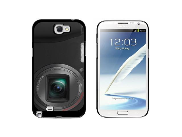 Point and Shoot Camera Design - Snap On Hard Protective Case for Samsung Galaxy Note II 2 - Black