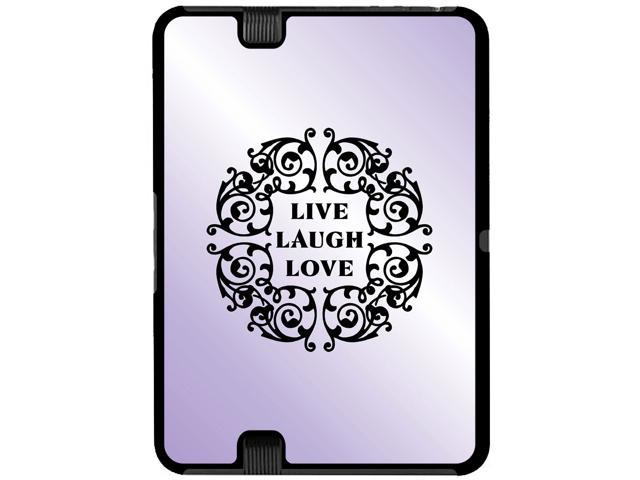 Live Laugh Love Purple - Snap On Hard Protective Case for Amazon Kindle Fire HD 7in Tablet