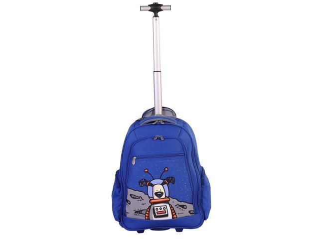 Ed Heck Moon Dog 20-inch Rolling Backpack with Laptop Compartment - True Blue
