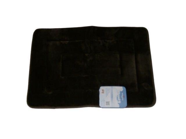 Mohawk Cloud Luxurious Memory Foam Dark Brown Bath Mat Skid Resistant Throw Rug