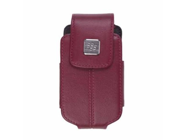 Blackberry - Merlot Leather Swivel Holster for Blackberry 8220 8230